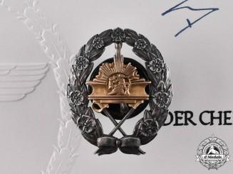 Germany, Luftwaffe. The Eagle Order Award Documents & Estonian Pilot School Badge of Hauptmann Otto Olavi Lumiala