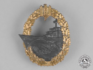 Germany, Kriegsmarine. A Kriegsmarine Destroyer War Badge, By Josef Feix & Söhne