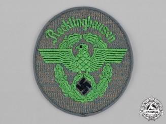 Germany, Schutzpolizei. A Recklinghausen Schutzpolizei (Protection Police) EM/NCO's Sleeve Insignia