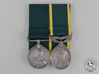 Canada. A Colonial Auxiliary Forces Long Service Medal & Efficiency Pair,  48th Highlanders