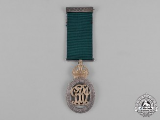 United Kingdom. An Indian Volunteer Forces Officers' Decoration, East Coast Volunteer Rifles