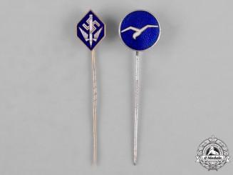 Germany, Third Reich. A Pair of Third Reich Period Stick Pins