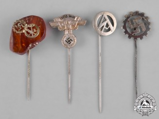 Germany, Third Reich. A Lot of Third Reich Organization Membership Stick Pins