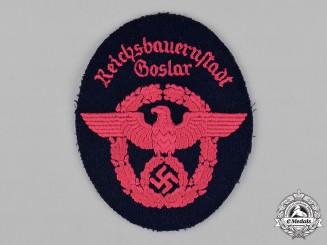 Germany, Feuerschutzpolizei. A Goslar Feuerschutzpolizei (Fire Protection Police) EM/NCO's Sleeve Insignia