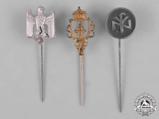 Germany, Third Reich. A Lot of Third Reich Period Organization Stick Pins