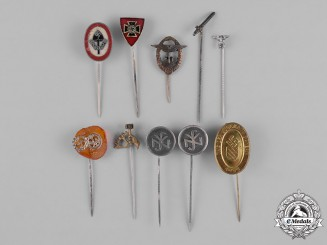 Germany, Third Reich. A Lot of Third Reich Period Stick Pins