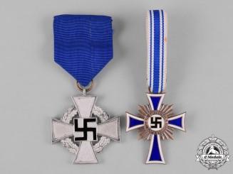 Germany, Third Reich. A Pair of Third Reich Period Merit Medals
