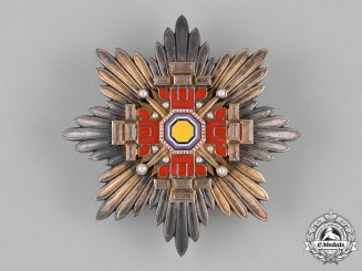 Japan. Manchukuo Empire. An Order of the Pillars of the State, II Class Star, c.1940