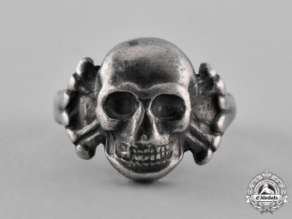 Germany, Third Reich. A Second War Period Skull & Crossbones Rings