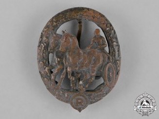 Germany, Third Reich. A Horse Driver's Badge, Bronze Grade, by L. Christian Lauer