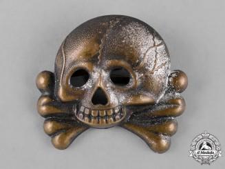 Germany, SS. A Waffen-SS Visor Cap Skull, I Type