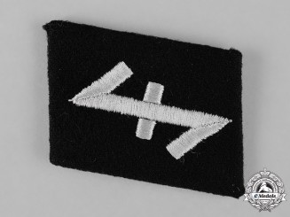 "Germany, SS. A Mint and Unissued 23rd SS-Freiwilligen Panzergrenadier Division ""Nederland"" EM Collar Tab"