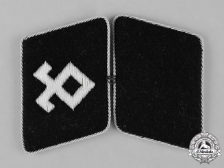 "Germany, SS. A Pair of Mint and Unissued 7.SS-Freiwilligen-Gebirgs-Division ""Prinz Eugen"" Officer's Collar Tabs"