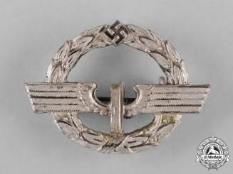 Germany, Reichsbahn. A German Female Railway Staff Service Badge, Silver Grade c.1944