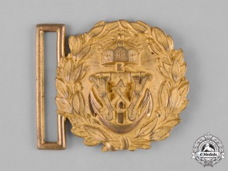 Germany, Imperial. A First War Imperial German Navy Officer's Belt Buckle