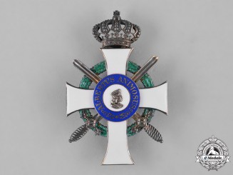 Saxony, Kingdom. An Albrecht Order, Officer's Cross with Swords, by Alfred Roesner c.1915