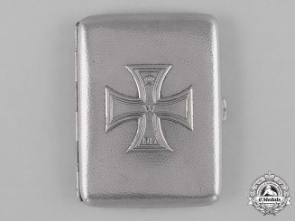 Germany, Imperial. A Cigarette Case with 1914 Iron Cross, c.1915