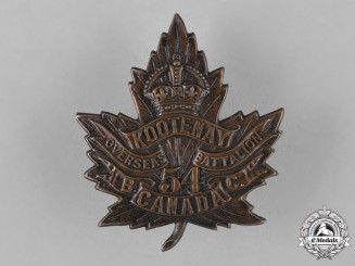 "Canada. A 54th Infantry Battalion ""Kootenay Battalion"" Cap Badge"