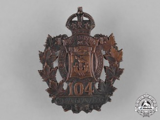 Canada. A 104th Infantry Battalion Cap Badge