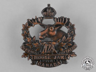 Canada. A 128th Infantry Battalion Cap Badge