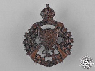 Canada. A Pre First War 43rd Regiment (The Duke of Cornwall's Own Rifles) Cap Badge