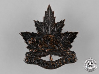 Canada. A Pre First War Oxford Rifles Cap Badge