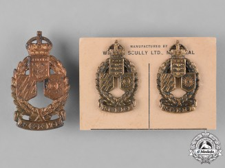 Canada. A Second War Corps of Royal Canadian Electrical and Mechanical Engineers Officer's Insignia Set