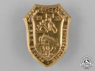Germany, NSBO. A 1933 NSBO Middle Franconia District Day Badge by C. Balmberger