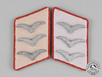 Germany, Luftwaffe. A Pair of 1st Paratroop Panzer Division Hermann Göring Feldwebel's Collar Tabs
