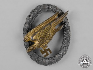 Germany, Luftwaffe. A Fallschirmjäger Badge, by G.H. Osang, c.1944