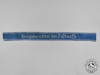 Germany, Luftwaffe. A Scarce Officer War Correspondent Cuff Title