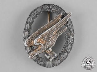 Germany, Luftwaffe. A Fallschirmjäger Badge by Berg & Nolte
