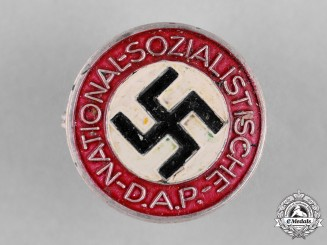 Germany, NSDAP. A Membership Badge by Rudolf Reiling