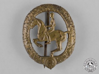 Germany, Third Reich. A Horseman's Badge, Bronze Grade, by L. Christian Lauer