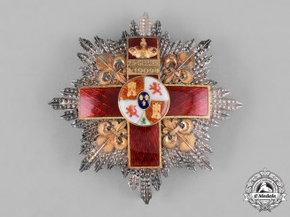 Spain, Kingdom. An Order of Military Merit, Red Division, II Class Cross c.1910