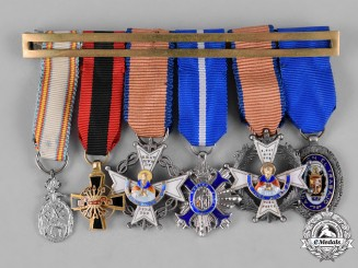Spain, Franco Period. A Miniature Group of Six Medals & Decorations c.1945