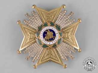 Spain, Franco Period. A Royal and Military Order of St. Hermenegildo, Commander by Number Breast Star c.1940