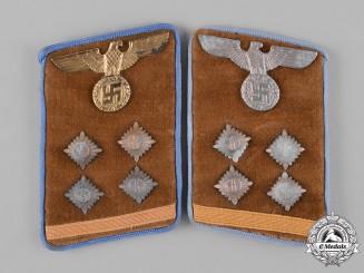 Germany, NSDAP. A Pair of Ortsgruppe Gemeinschaftsleiter Collar Tabs