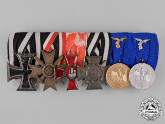 Germany, Wehrmacht. A First & Second War Period Medal Ribbon Bar by C.G. Ulrich