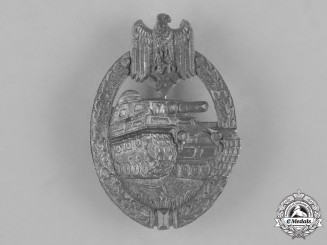 Germany, Wehrmacht. A Silver Grade Tank Badge by Friedrich Linden