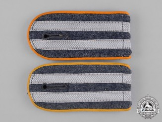 Germany, Luftwaffe. A Pair of Eastern Volunteers Airborne Troops Senior NCO's Shoulder Boards