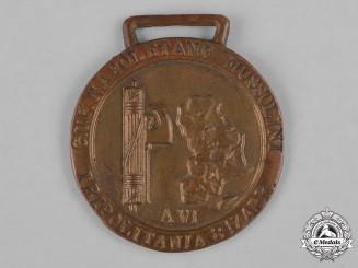 Italy, Kingdom. A Fascist University Group (GUF) Napoletano Mussolini Tripolitania Medal
