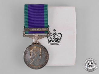 United Kingdom. A Cased 1962-2007 General Service Medal to Lance Corporal R.L. Beauvais, Royal Signals