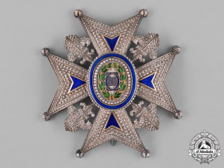 Spain, Kingdom. A Royal & Distinguished Order of Charles III, Commander's Star, c.1920