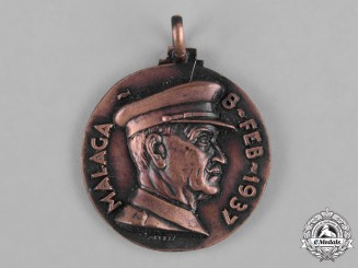 Italy, Kingdom. A Spanish Civil War Voluntary Troops Corps (CTV) Battle of Malaga Commemorative Medal 1937