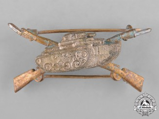Spain, Franco Period. A Blue Division Anti-Tank Breast Badge,