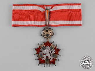Czechoslovakia, Republic. An Order of the White Lion, III Class Commander, c.1935