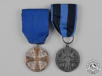 Finland, Republic. Two Medals & Awards