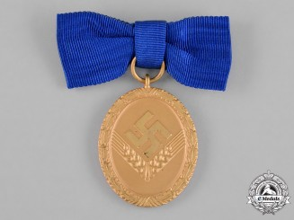 Germany, RAD/wJ. A Gold Grade Reich Labour Service of Young Women (RAD/wJ) Faithful Service Medal
