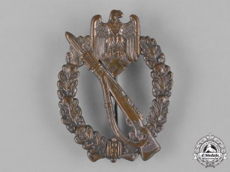 Germany, Heer. An Infantry Assault Badge, Silver Grade, by Otto Schickle